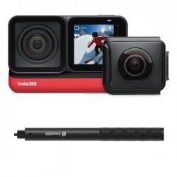 دوربین فیلم برداری اینستا 360 مدل one r twin edition به همراه منوپاد نامرئی