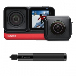 دوربین فیلم برداری ورزشی اینستا 360 مدل insta360 one r twin edition به همراه منوپاد نامرئی