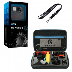 دوربین فیلم برداری ورزشی گوپرو مدل Fusion همراه با کیف و بند آویز پلوز