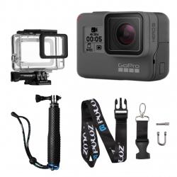 دوربین فیلم برداری ورزشی گوپرو مدل HERO5 Black Quick Stories به همراه اوازم جانبی پلوز