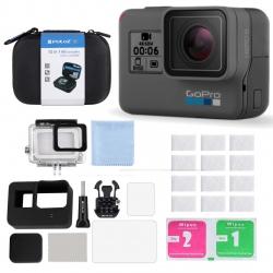 دوربین فیلم برداری ورزشی گوپرو مدل HERO6 Black Quick Stories به همراه کیف لوازم جانبی پلوز 12 تکه پلوز