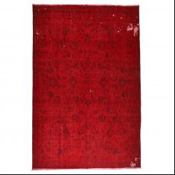 فرش دستبافت رنگ شده هفت متری مدل وینتج کد 1405144
