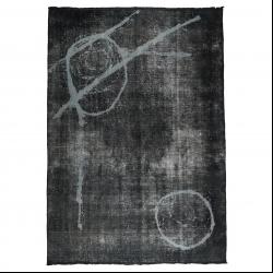 فرش دستبافت رنگ شده هفت و نیم متری مدل وینتج کد 1405147