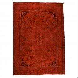 فرش دستبافت رنگ شده نه متری مدل وینتج کد 1405155