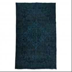 فرش دستبافت رنگ شده پنج و نیم متری مدل وینتج کد 1405112