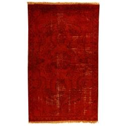فرش دستبافت رنگ شده یک متری طرح وینتج کد 991231