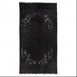 فرش دستبافت رنگ شده یک و نیم متری مدل وینتج کد 1404147