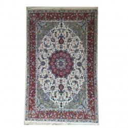 فرش دستباف یک و نیم متری طرح لچک ترنجی کد CK210005