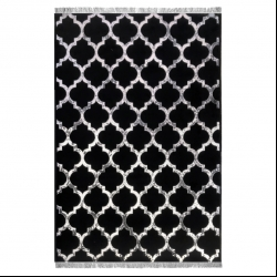 فرش ماشینی آرمانی طرح مراکشی کد 740 زمینه مشکی