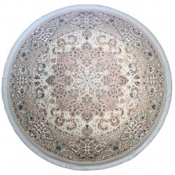 فرش ماشینی فرش رادین اصفهان طرح گرد ملک آرامش رنگ زمینه صدفی