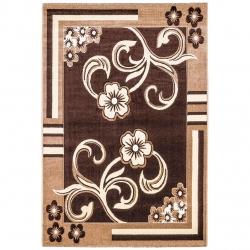 فرش ماشینی سهند کد C062.XO طرح فانتزی زمینه قهوه ای
