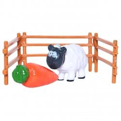 فیگور طرح مزرعه حیوانات گوسفند بسته 3 عددی