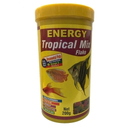 غذا آبزیان انرژی مدل Tropical mix Flake وزن 200 گرم