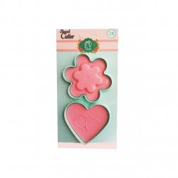 قالب شیرینی ای وی استایل طرح گل و قلب کد 77