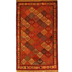 قالیچه گلیم دستبافت ورنی دو و نیم متری کد 108