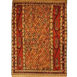 قالیچه گلیم دستبافت ورنی دو و نیم متری کد 109