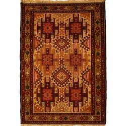 قالیچه گلیم دستبافت ورنی یک و نیم متری کد 111