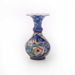 گلدان میناکاری آرانیک مدل 10 سانت طرح گل و مرغ کد 1015700015
