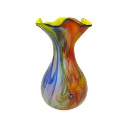 گلدان شیشه ای طرح مرمری سه پوست مدل MR811