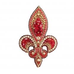 گل سینه دست ساز زنانه مدل قرمز A