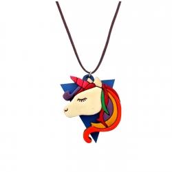گردنبند دخترانه مدل اسب تک شاخ در قاب