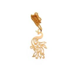 گردنبند دست ساز زنانه آرانیک مدل مشبک برنجی با آبکاری طلا کد 1510500031