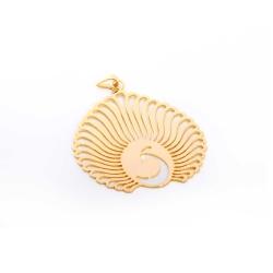 گردنبند دست ساز زنانه آرانیک مدل مشبک برنجی با آبکاری طلا کد 1510500037