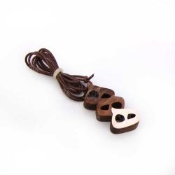گردنبند دست ساز زنانه آرانیک مدل مشبک نقره با قاب چوبی کد 1510800005