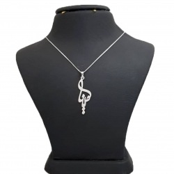 گردنبند نقره طرح اسم مینا کد Uttd 963