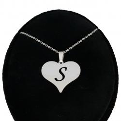 گردنبند نقره طرح حرف S کد ss1