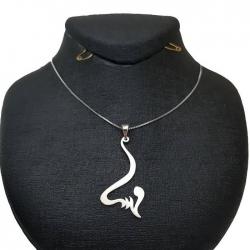 گردنبند نقره زنانه طرح اسم مهسا کد 07