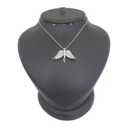 گردنبند نقره زنانه ترمه ۱ مدل فرشته کد smed 1009