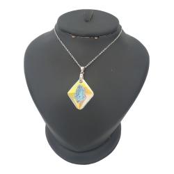 گردنبند نقره زنانه ترمه ۱ مدل سوارسکی کد smed 1166