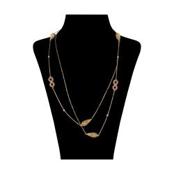 گردنبند طلا 18 عیار زنانه آلند کد H53