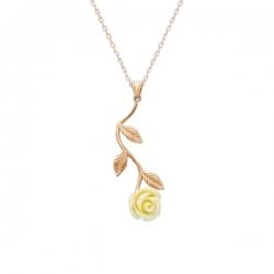 گردنبند طلا 18 عیار زنانه قیراط طرح گل کد GH500