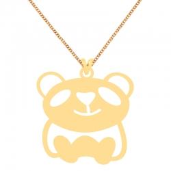 گردنبند طلا 18 عیار زنانه کرابو طرح خرس پاندا مدل Kr70369