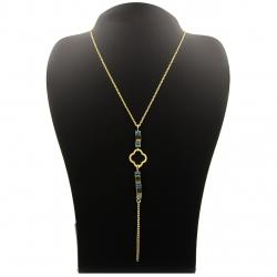 گردنبند طلا 18 عیار زنانه مانچو طرح ونکلیف کد sfgs026