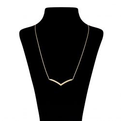 گردنبند طلا 18 عیار زنانه مدل H003