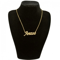 گردنبند طلا 18 عیار زنانه طرح  آرزو کد UN0017