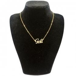 گردنبند طلا 18 عیار زنانه  طرح اسم گلی کد UN0034