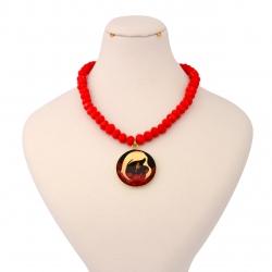 گردنبند طلا 24 عیار زنانه طرح مهر مادری کد 1362