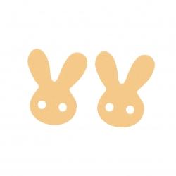 گوشواره طلا 18 عیار دخترانه باراد زر مدل خرگوش BZ27