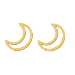 گوشواره طلا 18 عیار دخترانه رزالیا مدل mond-GEA-015