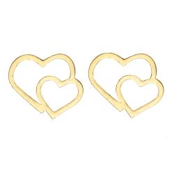 گوشواره طلا 18 عیار زنانه کرابو طرح قلب مدل Kr5021