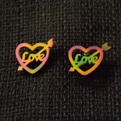 گوشواره زنانه مدل LOVE کد H1