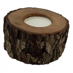 جا شمعی چوبی مدل گلابی کد 65