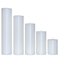 جا شمعی طرح استوانه ای کد 1520253035 مجموعه 5 عددی