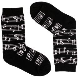 جوراب زنانه آپتیمیست طرح نت موسیقی
