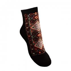 جوراب زنانه طرح سنتی رنگ مشکی