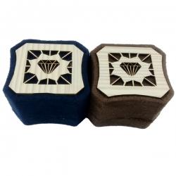 جعبه انگشتر مدل الماس چوبی کد 1 مجموعه دو عددی